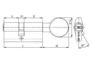 Цилиндр Kale 164 SM 68 mm