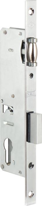 Корпус замка врезного цилиндрового узкопроф.155/P (25 mm) w/b (никель) б/ответ.планки