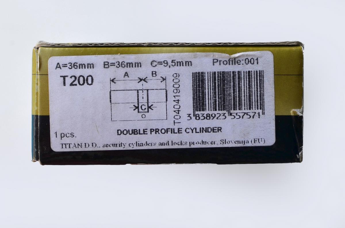 Сердцевина замка Titan T200 ключ/ключ