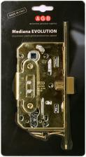 B01103.50.03.567 Замок межкомнатный под цилиндрич. механизм (латунь) MEDIANA EV.(инд.упак+B01000.13)