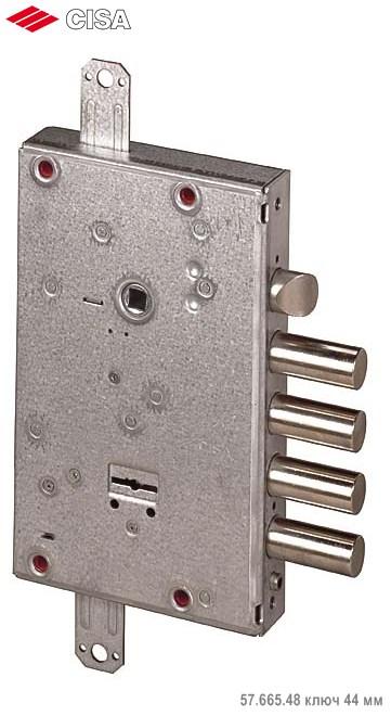 Замок врезной сувальдный NEW CAMBIO BASIC 57.665.48 (тех. упаковка), ключ 44 мм