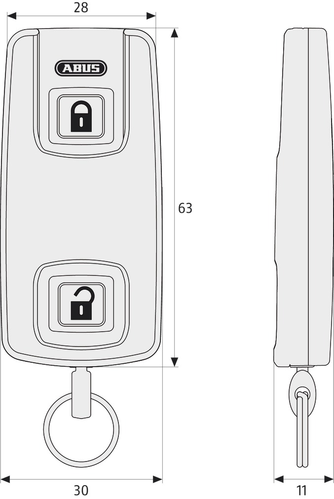 ABUS CFT3000 пульт дистанционного управления