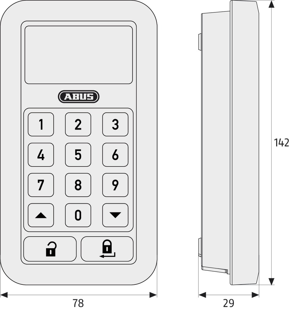 Беспроводная клавиатура ABUS CFT3000