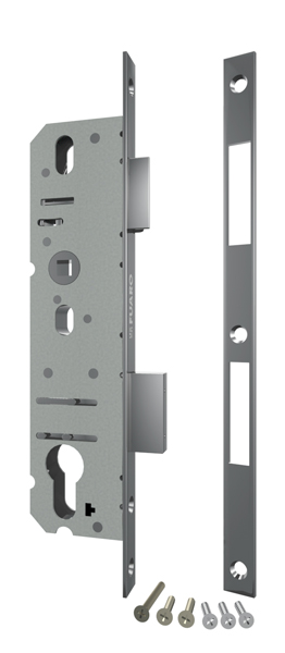 Корпус узкопрофильного замка с защелкой 4924-30/92 CP (хром) межосев. расст. 92 мм