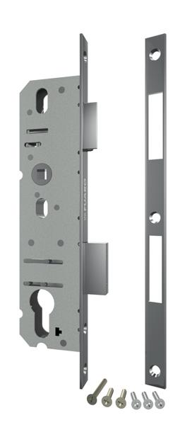 Корпус узкопрофильного замка с защелкой 4924-35/92 CP (хром) межосев. расст. 92 мм