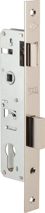 Корпус замка врезного цилиндрового узкопроф.153 (35 mm) w/b (никель)