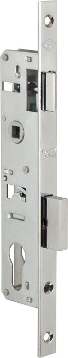 Корпус замка врезного цилиндрового узкопроф.153/P (20 mm) w/b (никель)