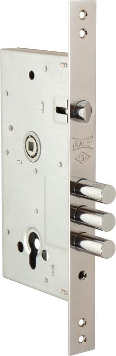 Корпус замка врезного цилиндрового 252/R w/b (никель)