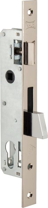 Корпус замка врезного цилиндрового узкопроф.253 (25 mm) w/b (никель)