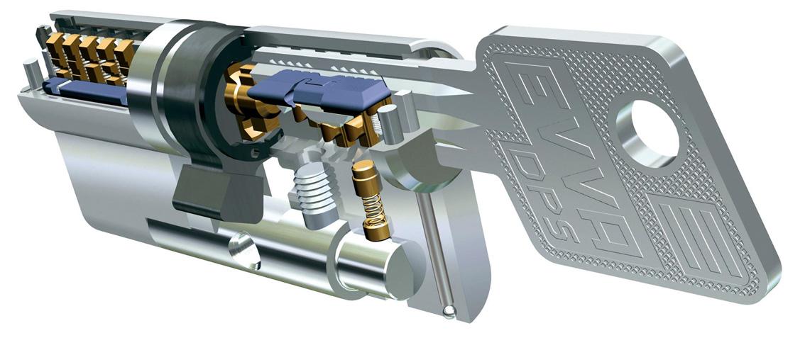 Цилиндровый механизм EVVA EPS ключ/ключ, 5 ключей